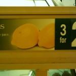 Photograph of humorous lemons.