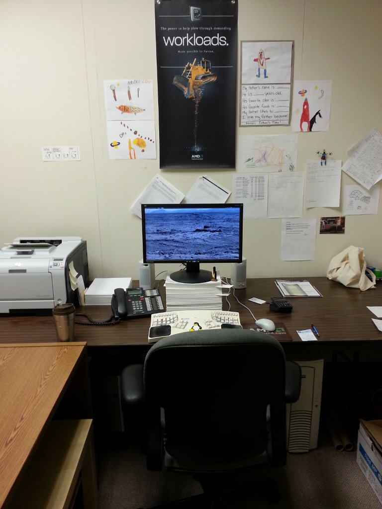 A photo of my office before setting up my standing desk.